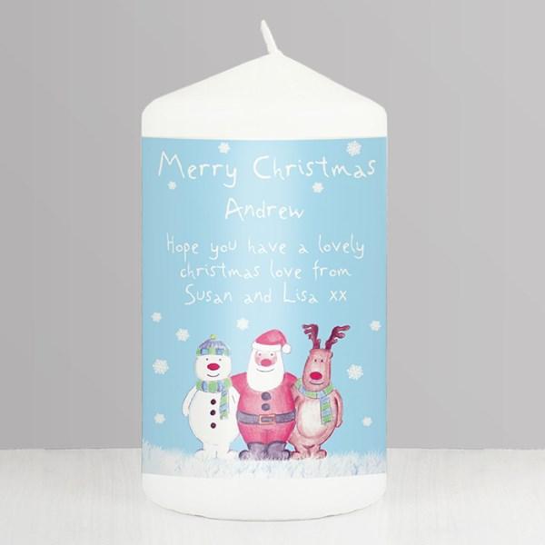 Snow Scene Candle