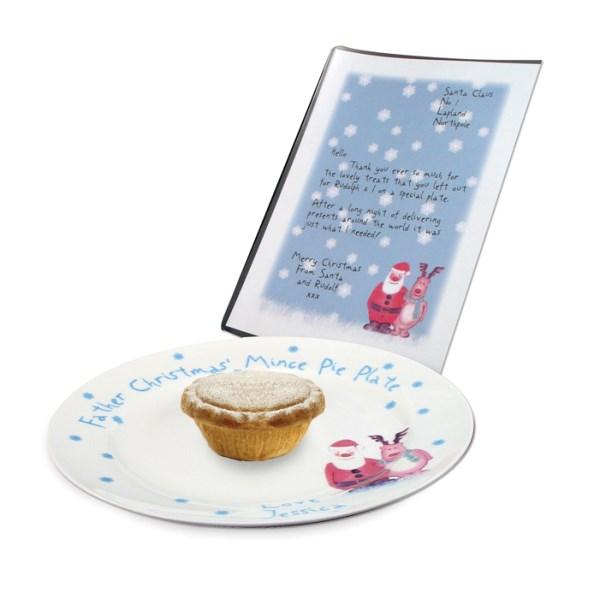 Snow Scene Mince Pie Plate & Letter