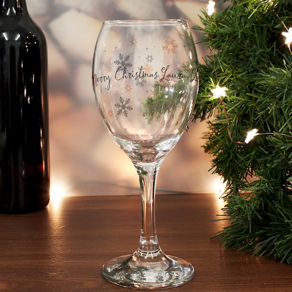 Snowflake Wine Glass