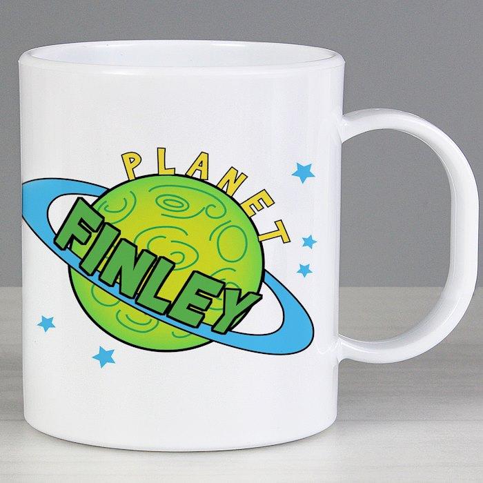 Personalised Space Plastic Mug