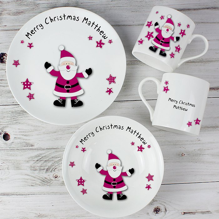 Spotty Santa Breakfast Set