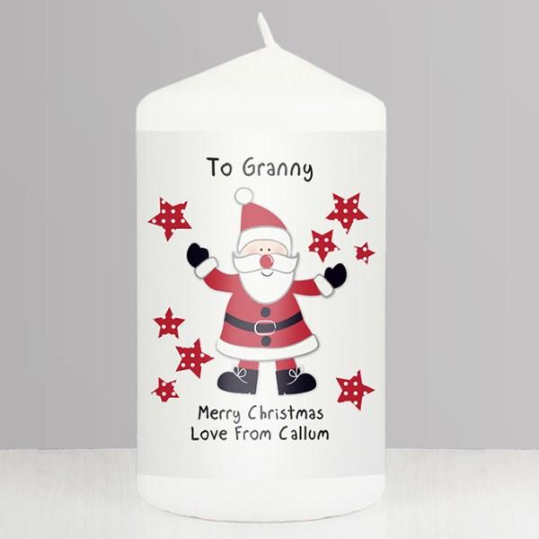 Spotty Santa Candle