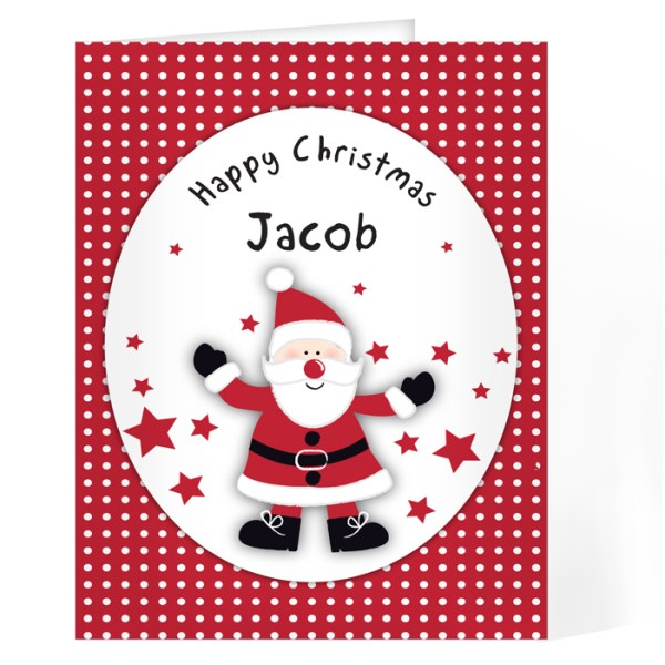 Spotty Santa Card