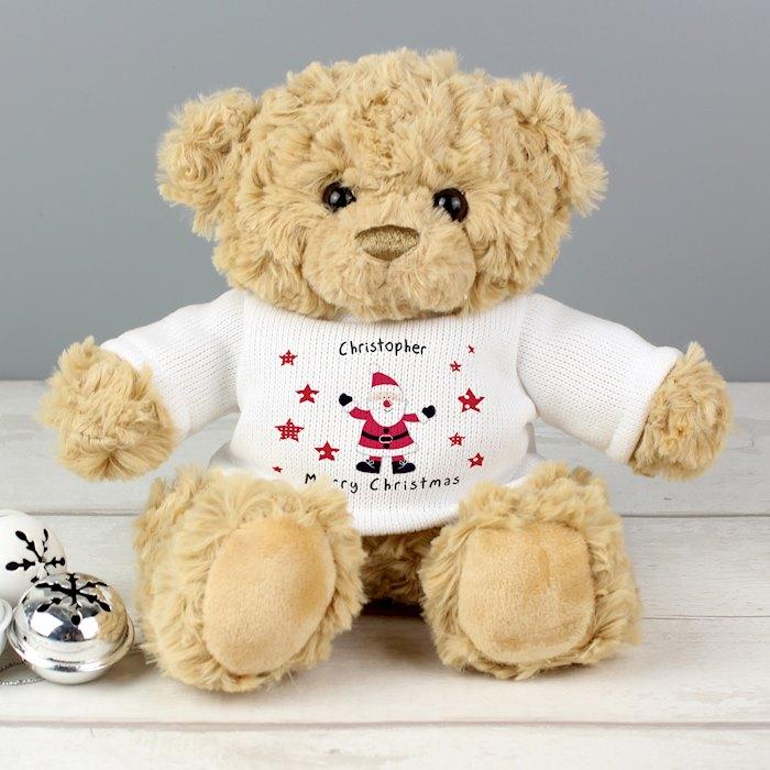 Spotty Santa Teddy