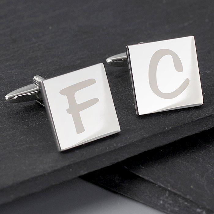 Initial Square Cufflinks