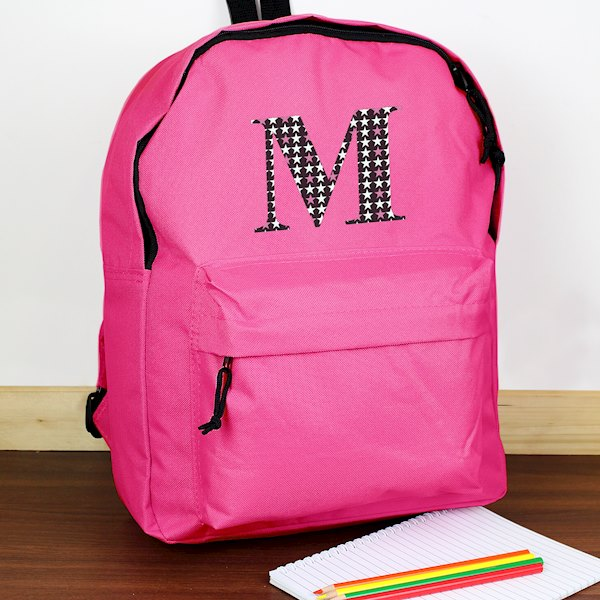 Star Initial Pink Backpack