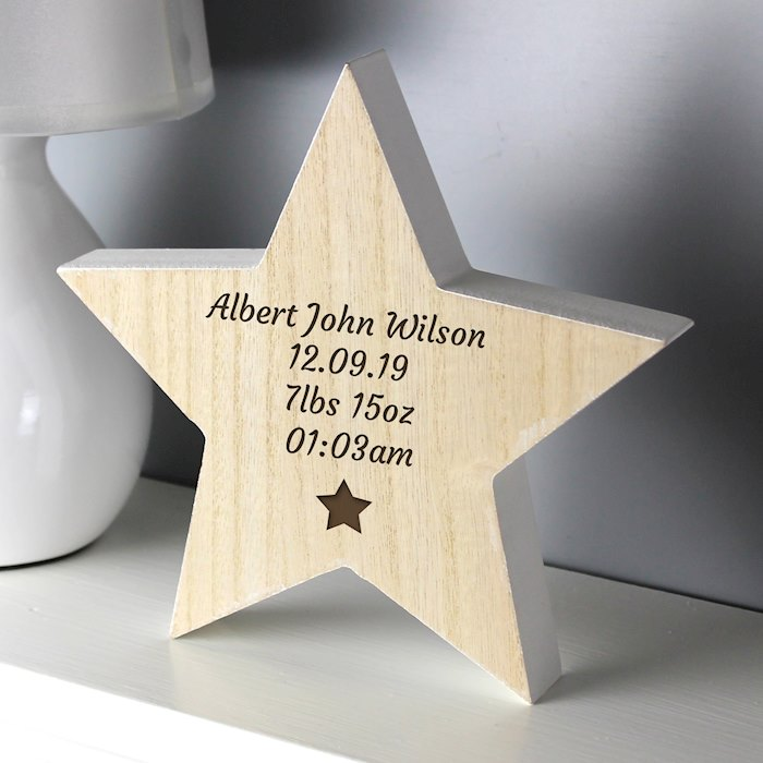 Star Motif Rustic Wooden Star Decoration