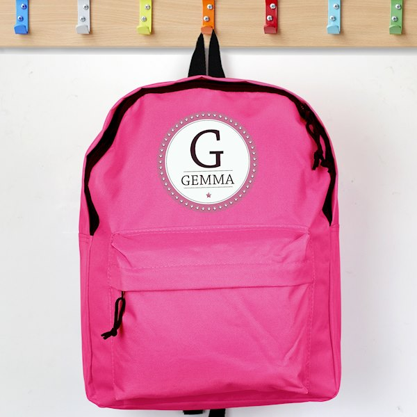 Star Name Pink Backpack