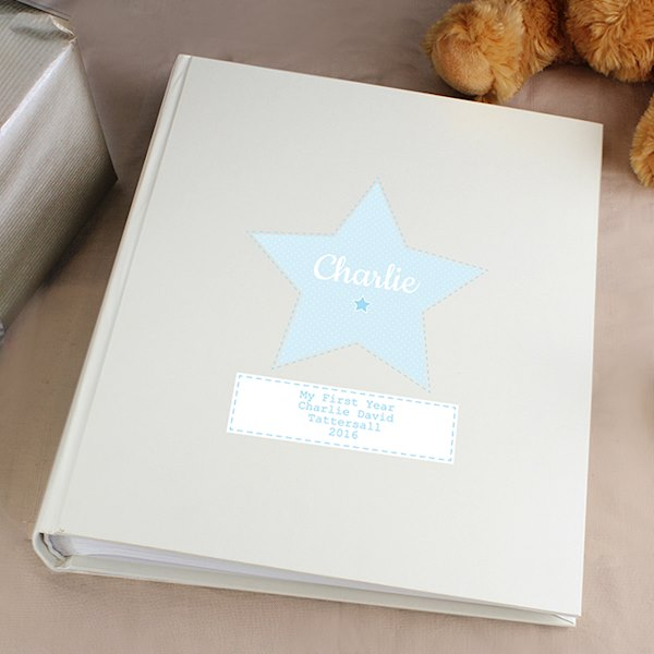 Stitch & Dot Baby Boy Album with Sleeves