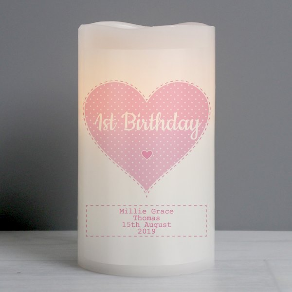 Stitch & Dot Baby Girl Nightlight LED Candle