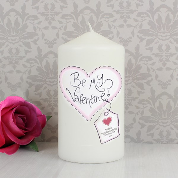 Stitch Heart Candle