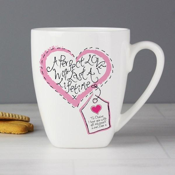 Stitch Heart Perfect Love Latte Mug