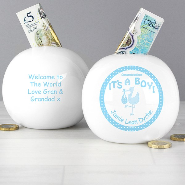 Stork It's a Boy Money Box