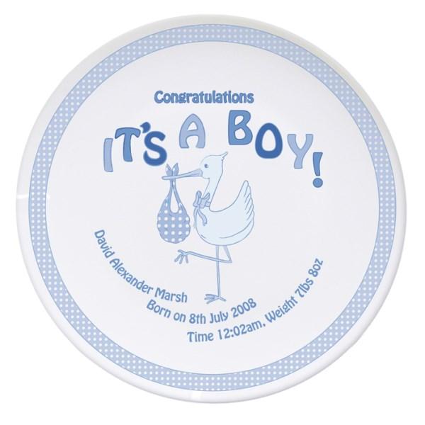 Stork It's a Boy Plate