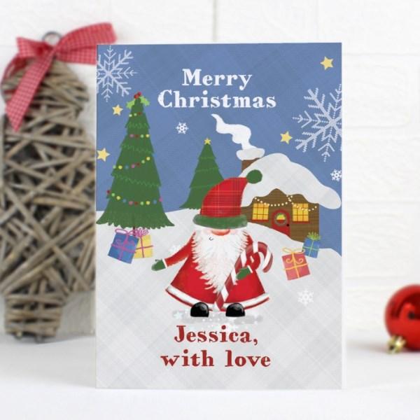 Tartan Santa Card