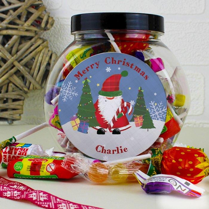 Tartan Santa Sweet Jar