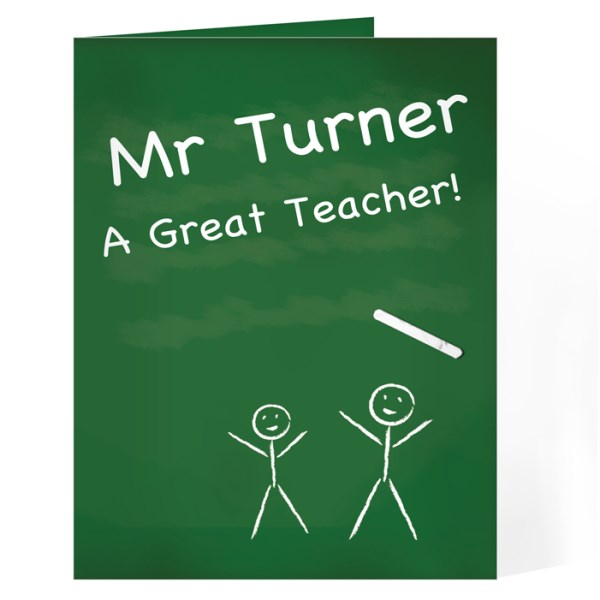 Teachers Pet Chalk Board Card