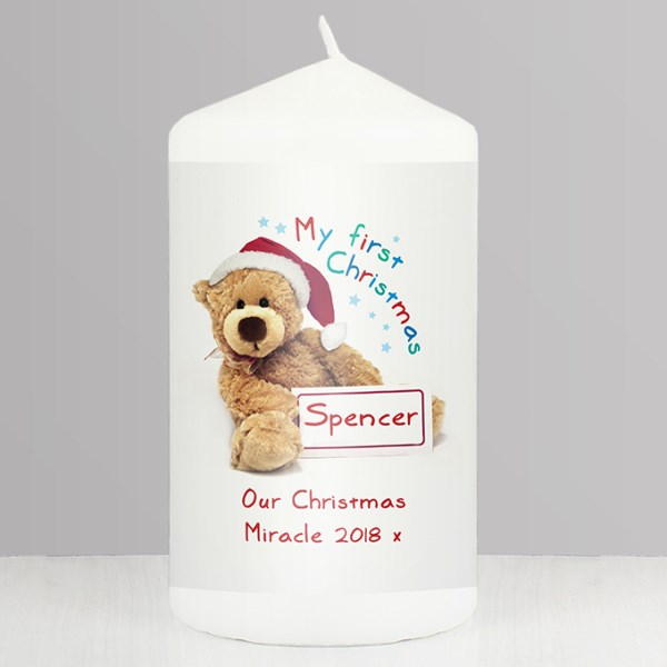 Teddy 1st Christmas Candle