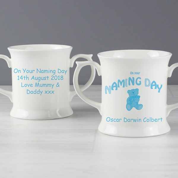 Teddy Blue Naming Day Loving Mug