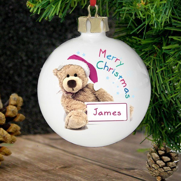 Teddy Christmas Bauble