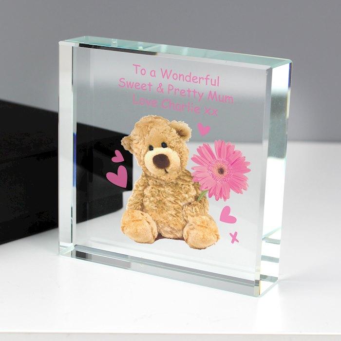 Teddy Flower Large Crystal Token