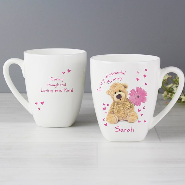 Teddy Flower Latte Mug