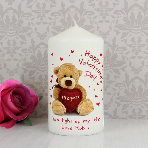 Teddy Heart Candle