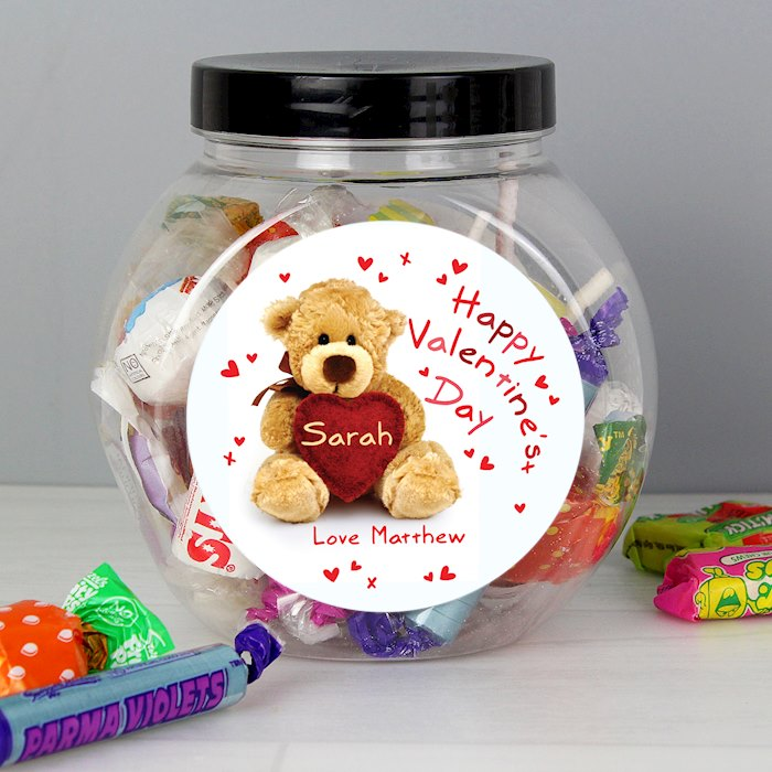 Teddy Heart Sweet Jar