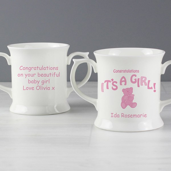 Teddy It's a Girl Lovng Mug