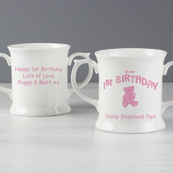 Teddy Pink 1st Birthday Loving Mug