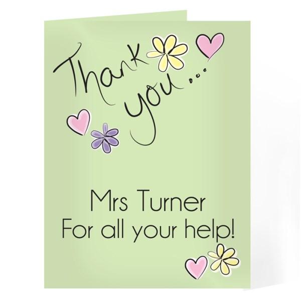 Thank You Flower Heart Card