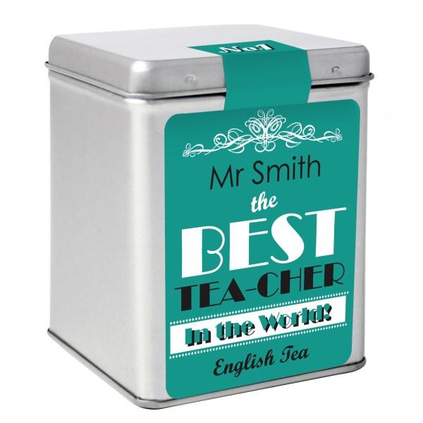 The Best Tea Slogan Tea & Tin