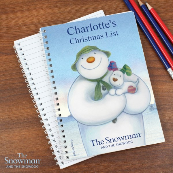 The Snowman and the Snowdog A5 Notebook