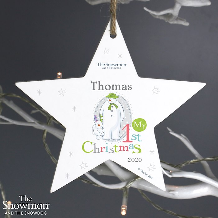 The Snowman and the Snowdog My 1st Christmas Star Decoration