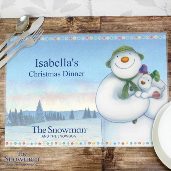 The Snowman and the Snowdog Laminated Print Placemat