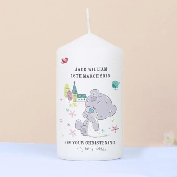 Tiny Tatty Teddy Christening Candle