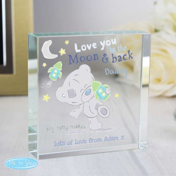 Tiny Tatty Teddy To the Moon & Back Large Crystal Token