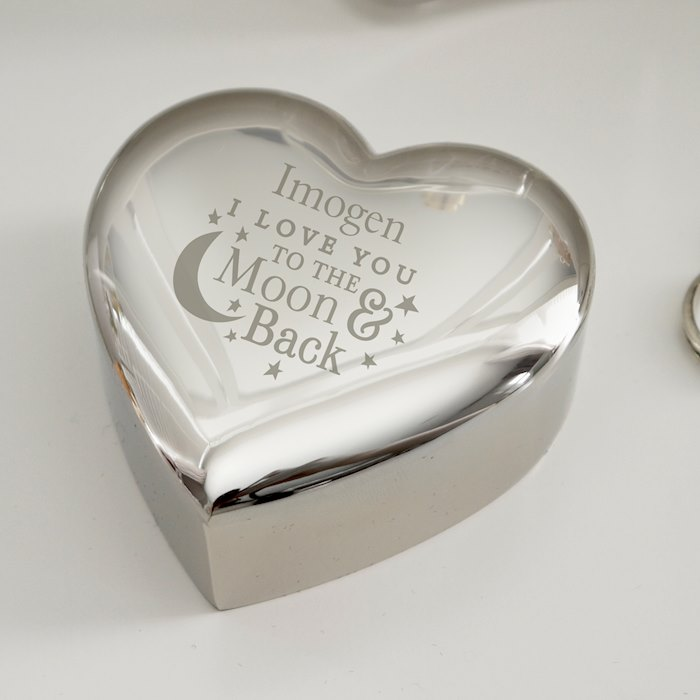 To the Moon and Back... Heart Trinket Box