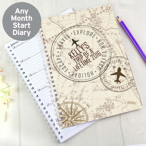Travel Stamp A5 Diary