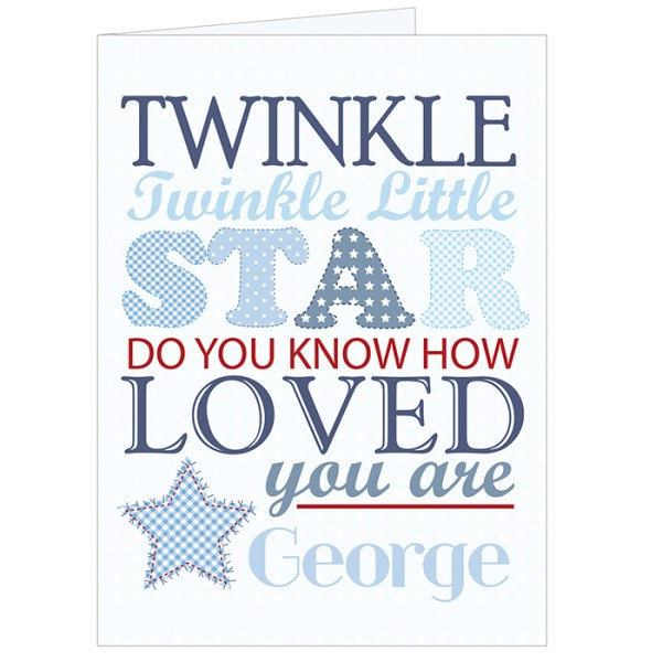 Twinkle Boys Card