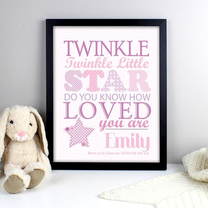 Twinkle Girls Black Framed Poster Print