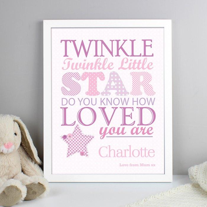 Twinkle Girls White Framed Poster Print