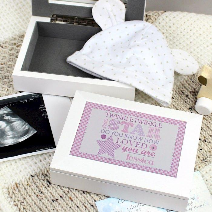 Twinkle Girls White Keepsake Box