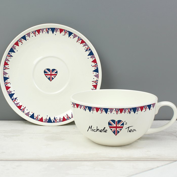 Union Jack Bunting Teacup & Saucer