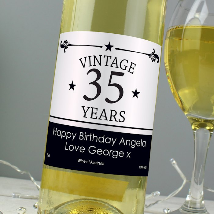 Vintage Numbers White Wine