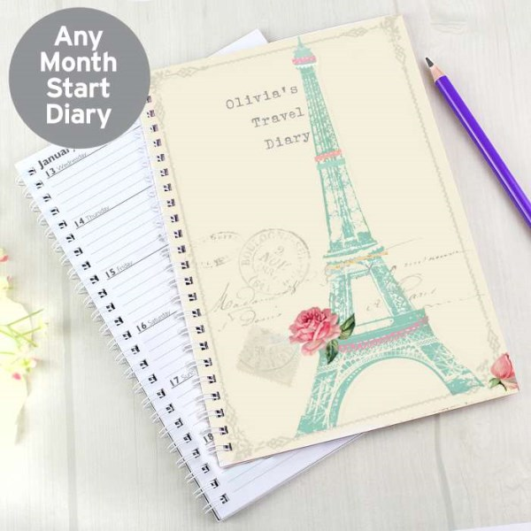 Vintage Pastel Travel A5 Diary