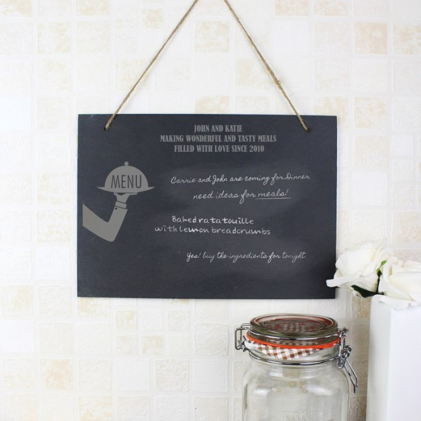 Waiter Hanging Slate Sign