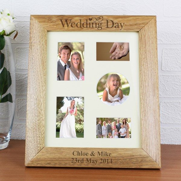 Wedding Day 8x10 Wooden Photo Frame