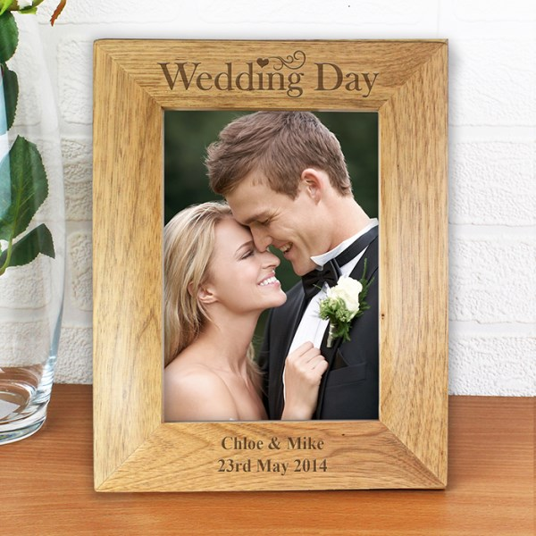 Wedding Day 5x7 Wooden Photo Frame