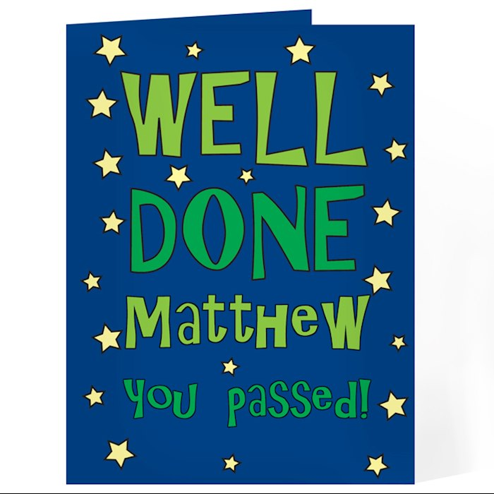 Well Done Green Star Card